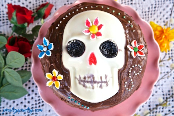 Sugar Skull Gelatin Cake for Day of the Dead