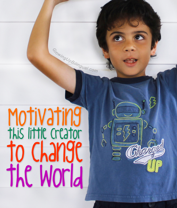 Motivating this little creator to change the world