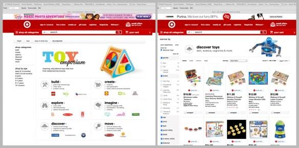 Target toy emporium only online