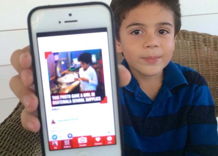 Teaching Kids To Give Back By Donating A Photo