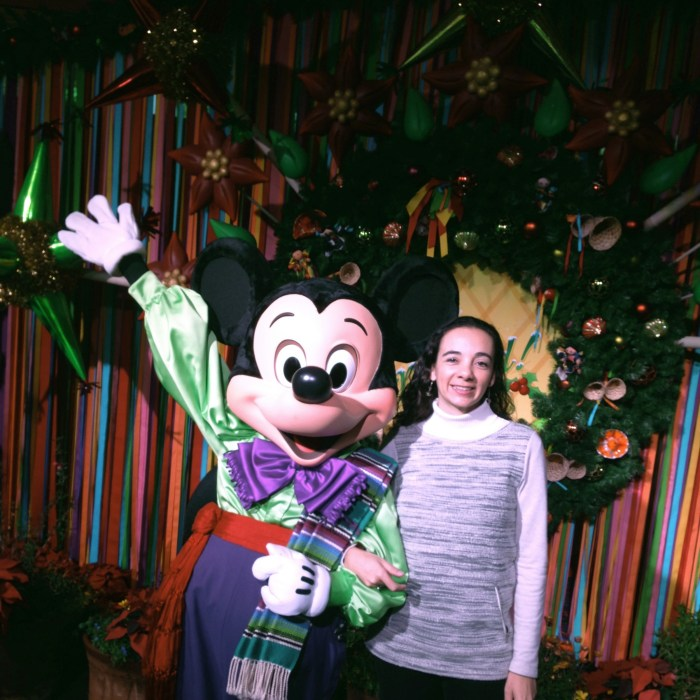 Mickey Dressed in traditional Mexican clothes at Viva Navidad.