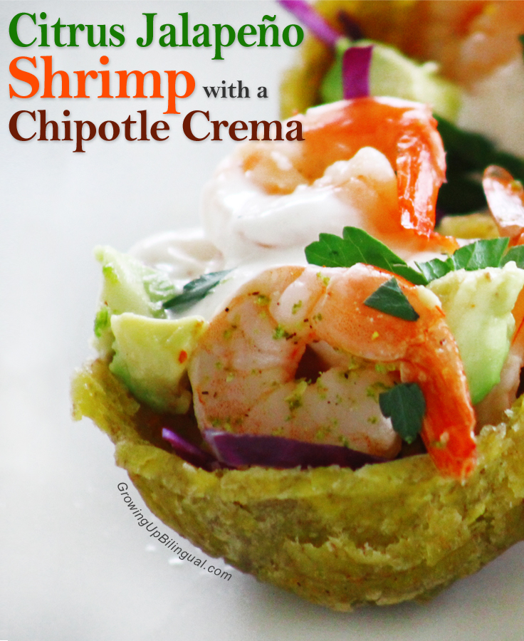 Citrus jalapeño shrimp with chipotle creme recipe