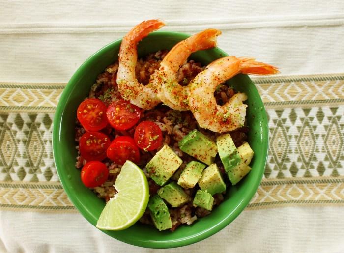 citrus shrimp rice bowl