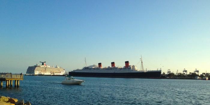 Queen Mary at Long Beach Rainbow Harbor