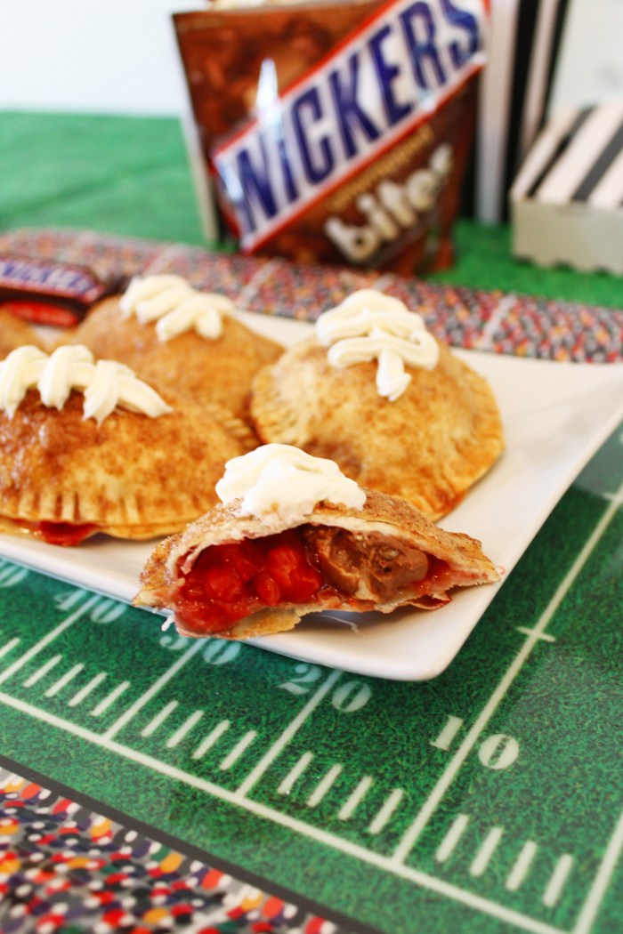 chocolate and strawberry empanadas with Snickers