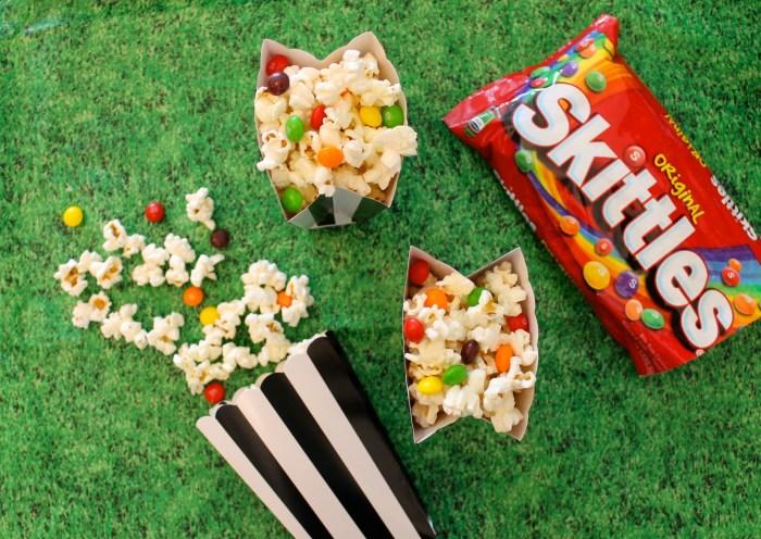 Skittles popcorn, delicious!