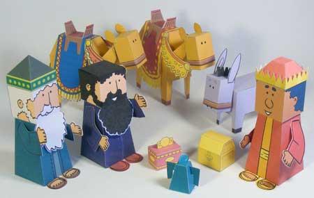Three Wise Men Paper Craft