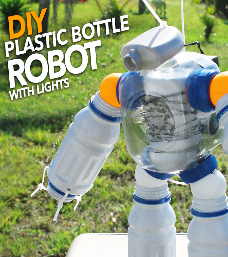 DYI Plastic Bottle Robot with Lights