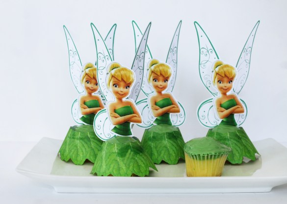 Tinker Bell cupcakes with free printables