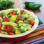 Spicy Pineapple and Avocado Pasta Salad