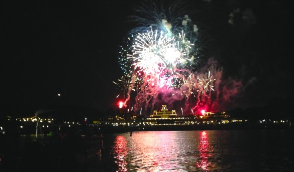 Disney Wishes fireworks from Seven Seas Lagoon