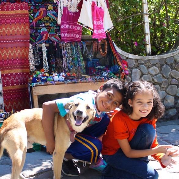 Making new friends in Santa Catarina Palopó on the shores of Lake Atitlán.