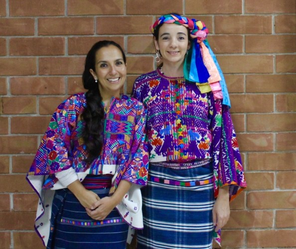 Wearing traditional, hand ­woven Mayan garments at the Museo Ixchel del Traje Indígena.