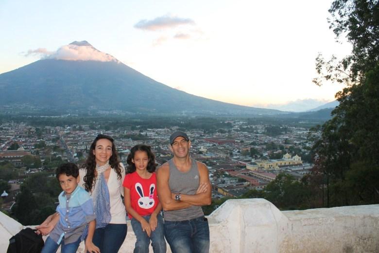Antigua Guatemala view from Cerro de la Cruz