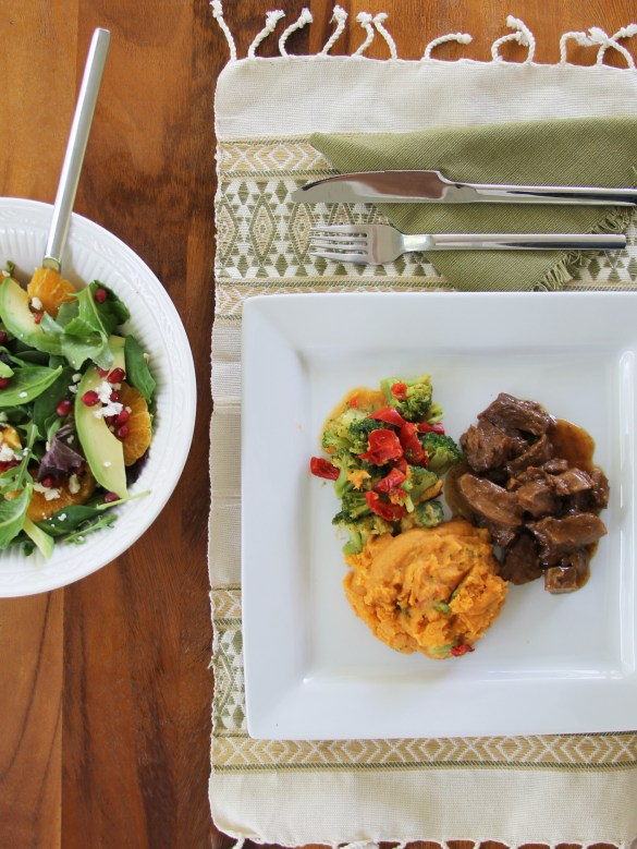 Avocado Tangerine salad and Stouffer's Fit Kitchen