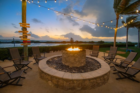 Firepit at sunset in the kid's free area. Photo courtesy of Hawks Cay Resort.