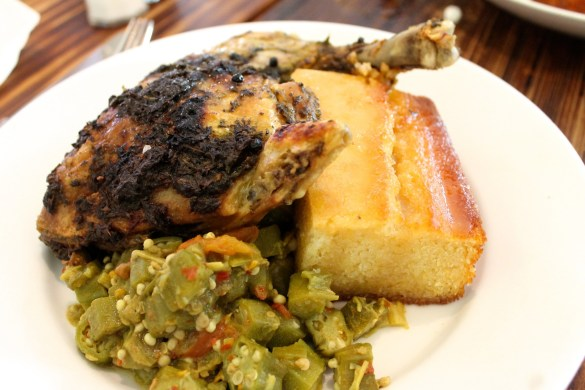 Roasted chicken with caramel and sea salt at Southern Charm Kitchen