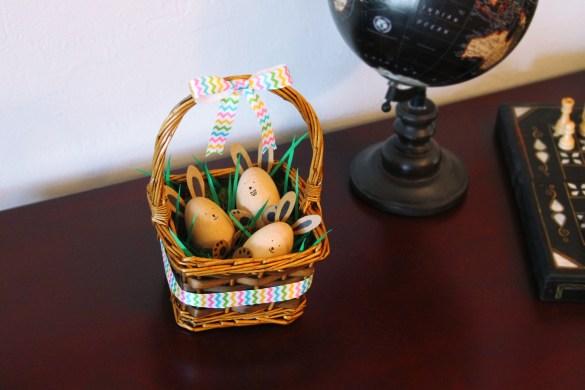 DIY Eastern egg basket decoration 2