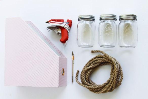 materials for DIY picnic caddy