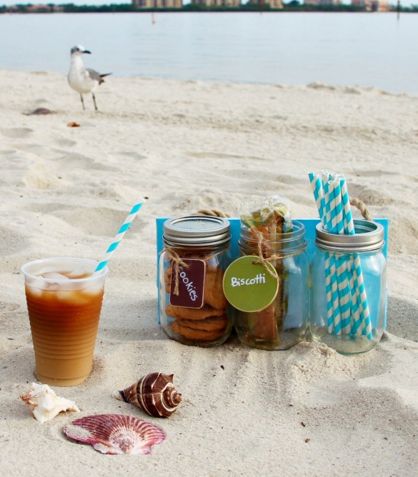 The Dunkin' Donuts® single serve creamers for ice coffee with picnic caddy 2