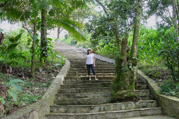 The gardens at the top of Isabel de Torres mountain in Puerto Plata.