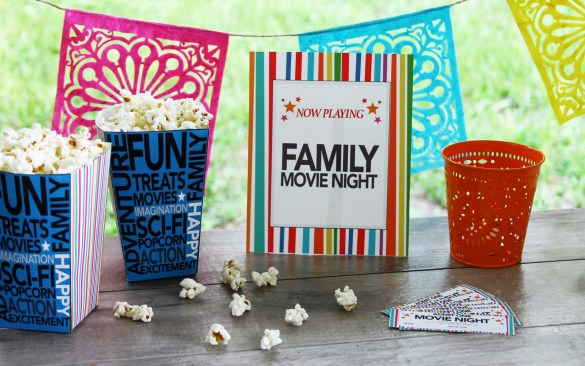 DIY Movie night Printables pic 1