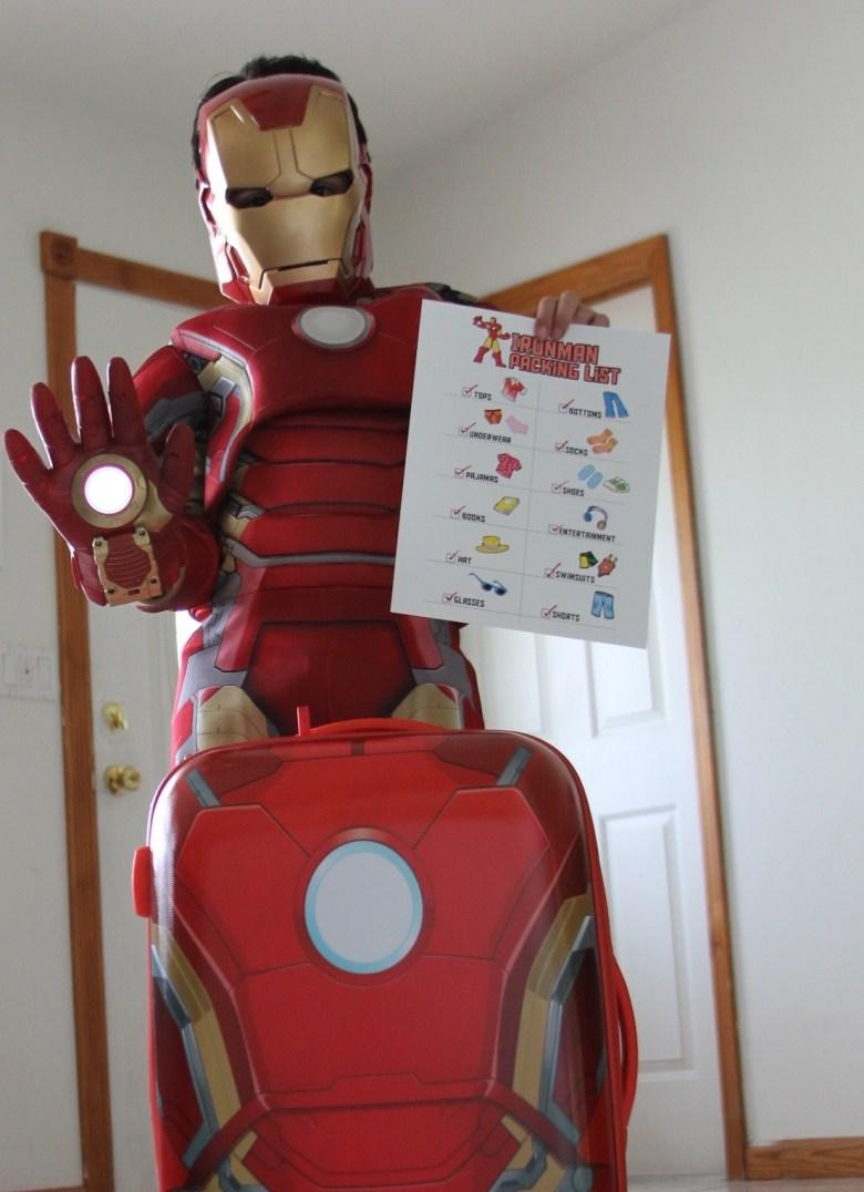 iron man printable packing list