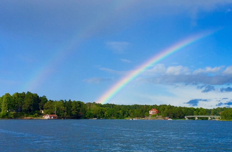 double rainbow in Vaxholm Sweden