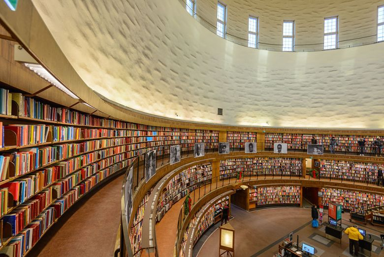 Stockholm Public Library Photo by Arild Vagen Creative Commons License.