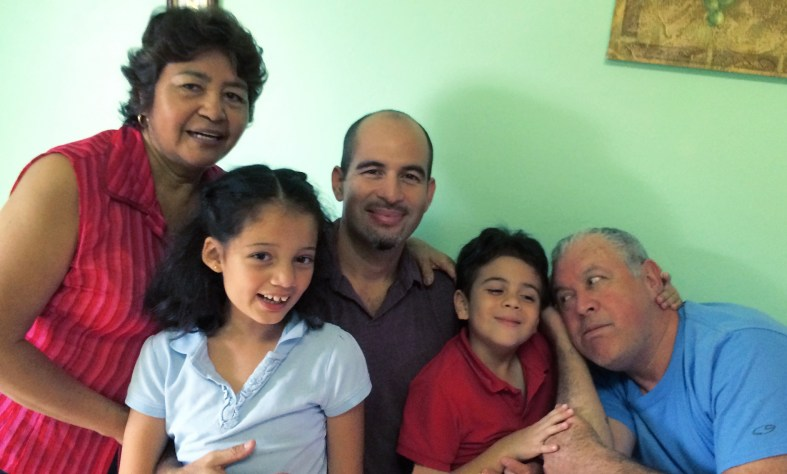 family with my parents