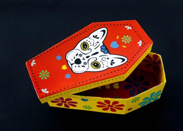 Day of the Dead Dog Gift Box Craft With Free Printable
