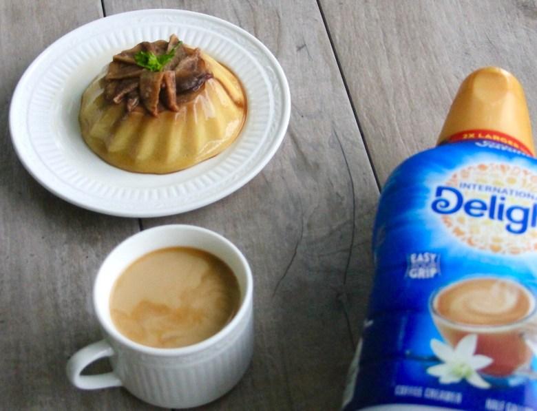 Coffee and apple caramel flan
