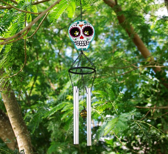 DIY Day of The Dead Sugar Skull Wind Chime