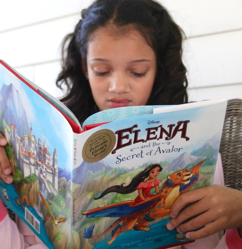 reading Elena of Avalor book