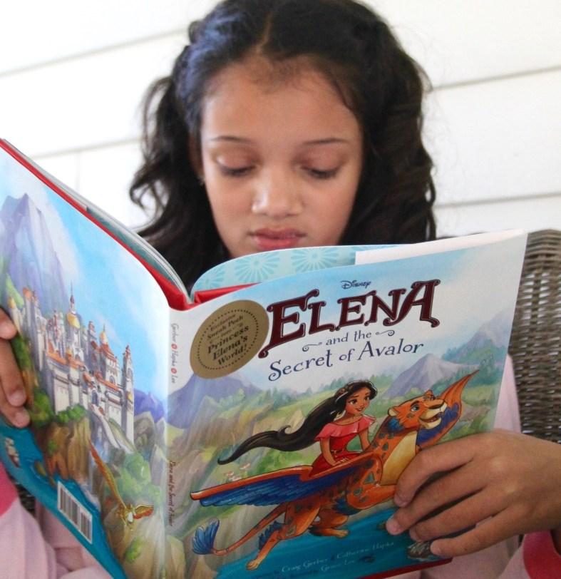 reading Elena of Avalor book
