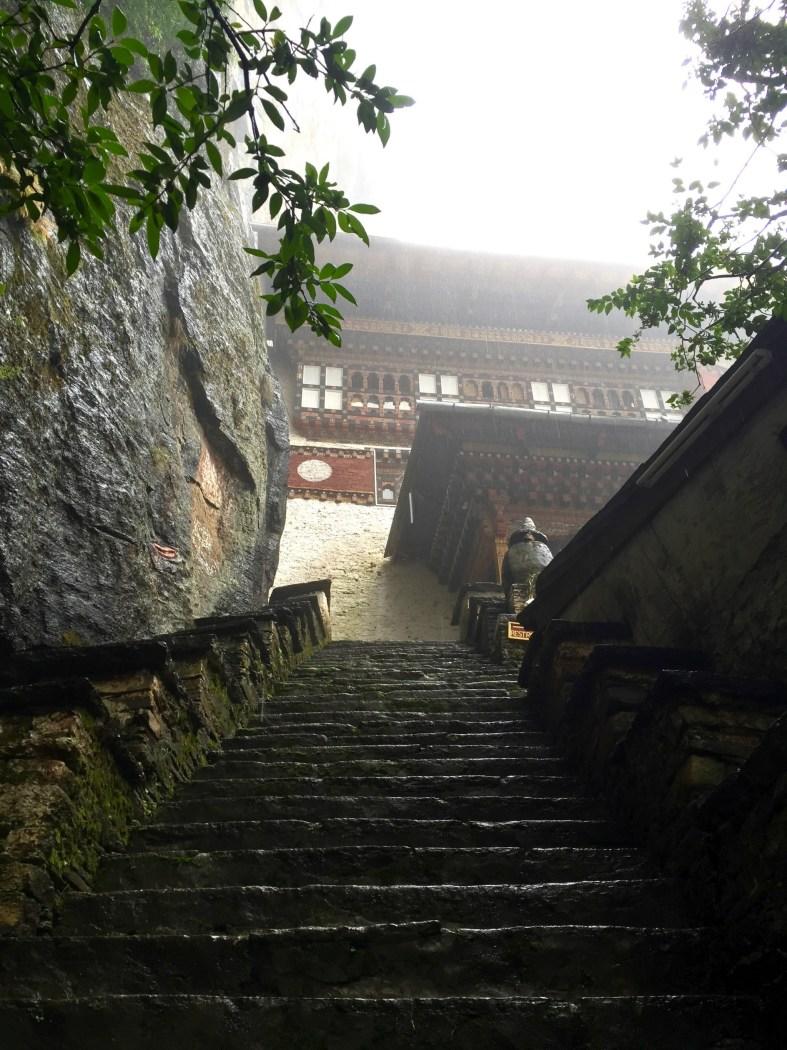 climbing up to Tiger Nest Monastery in Bhutan