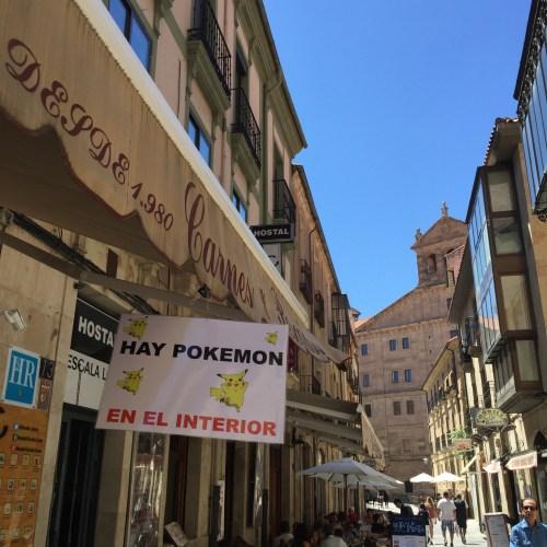 Pokemon Go sign in Salamanca