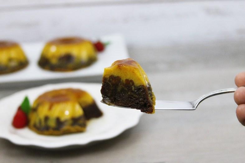 Easy choco pumpkin flan cake
