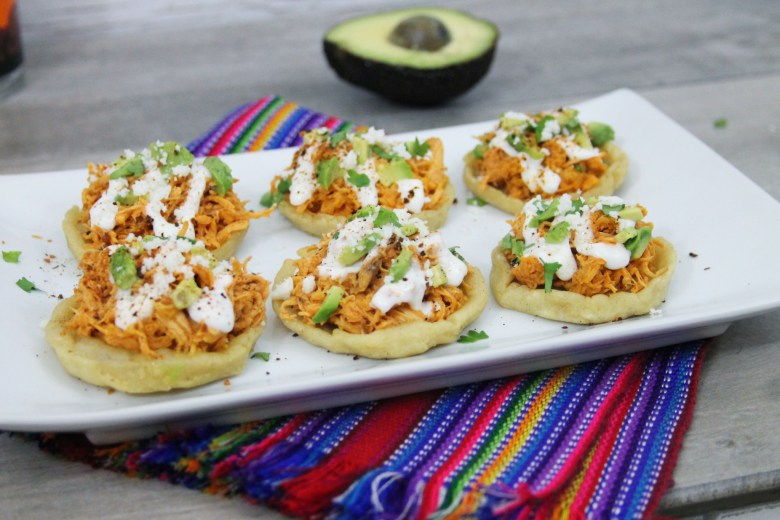 Turkey chipotle cranberry sopes