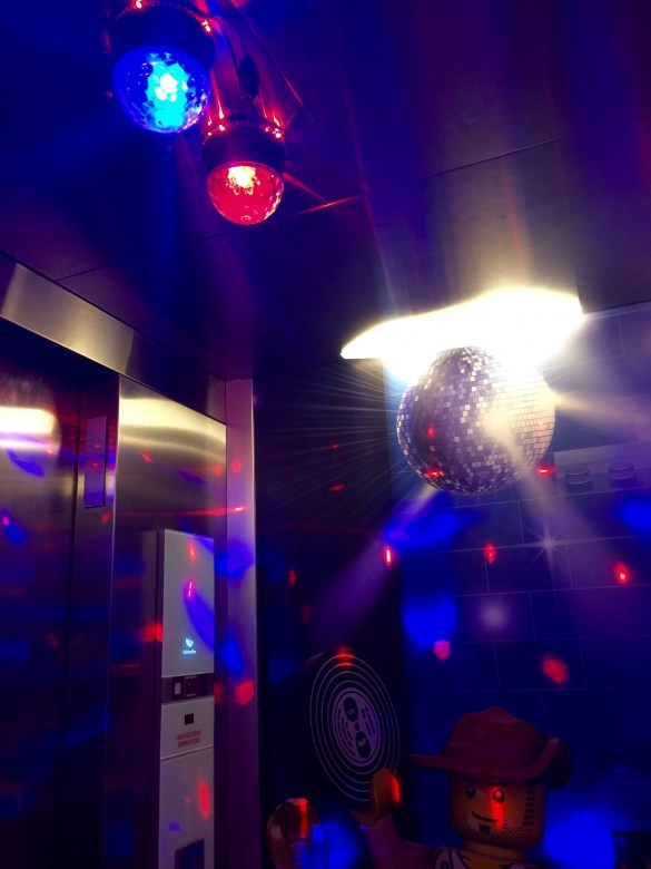 disco elevator at Legoland Hotel