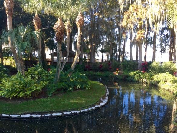 Lake Eloise boardwalk at Legoland Hotel Florida