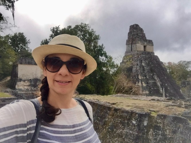 Visiting the ruins of Tikal