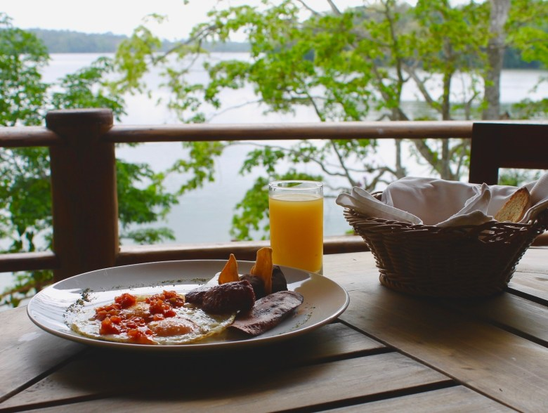 breakfast at Las Lagunas Hotel in Guatemala