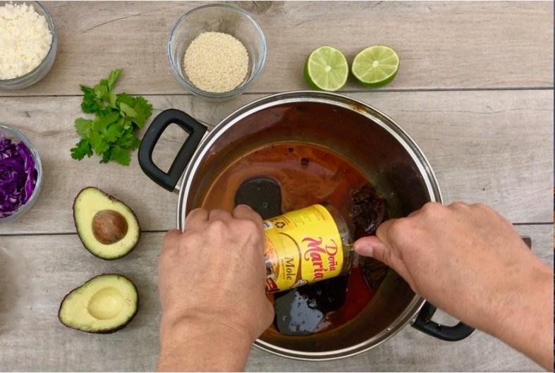 easy and quick mole tostadas recipe