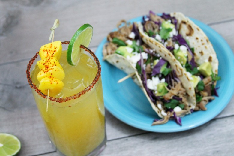 Mango Beer Chelada And Mango Beer Braised Tacos