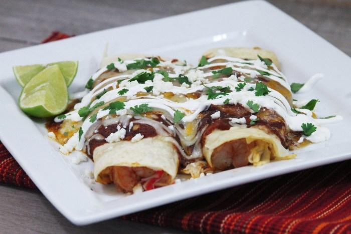 Easy Chipotle Seafood Enchiladas