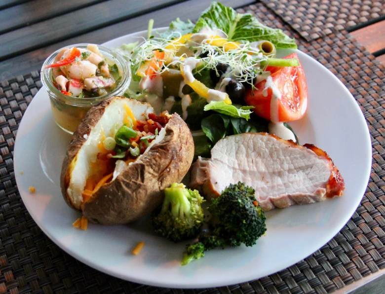 Healthy gourmet food offerings at Club Med Sandpiper Bay