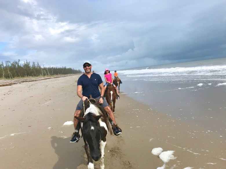 Horseback riding on the beach in Port St Lucie