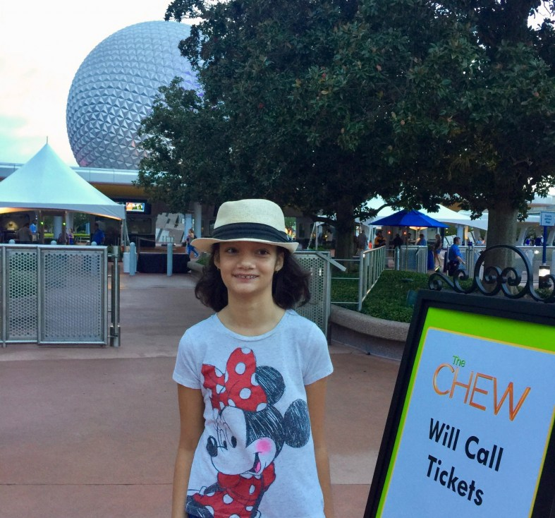 Attending live taping of The CHEW at Epcot