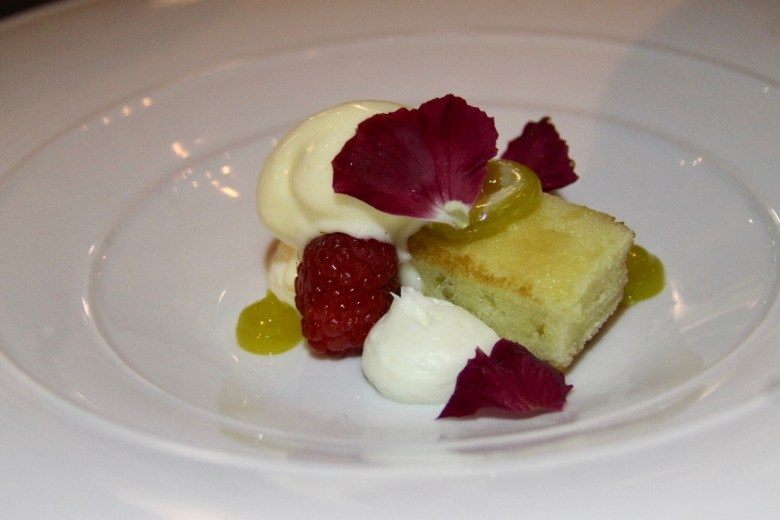 Olive Oil Cake with Lemon, Marscarpone and Rosemarry at Monello's Cucina in Minneapolis